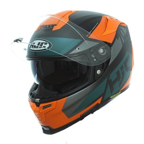 Schwarz//Orange Motorradhelm HJC RPHA 70 DEBBY MC7SF L